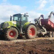 Claas Tractor & Hook Trailer